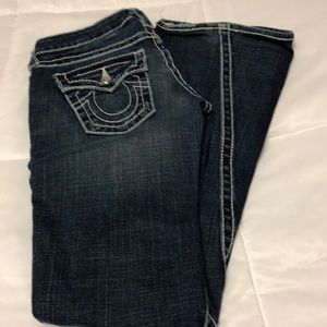 Authentic True Religion Jeans with white stitches